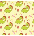 Seamless pattern with dinosaurs in cartoon vector image vector image