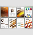 set abstract technology backgrounds and vector image vector image