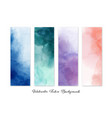 set colorful abstract stain watercolor vector image vector image
