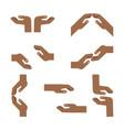 set of african hands vector image
