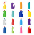 set of bottles of cleaning products vector image