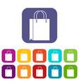 shopping bag icons set vector image vector image