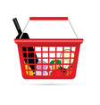 shopping basket with product vector image vector image