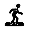 snowboard glyph icon vector image