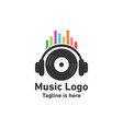 sound and music logo vector image vector image