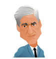 special counsel robert mueller caricature vector image vector image