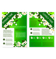 spring flowers welcome brochure template design vector image vector image