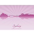 Sydney skyline in purple radiant orchid vector image vector image