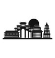 taipei icon simple style vector image vector image