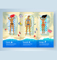 three young women lying on beach vector image vector image
