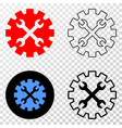 tools gear eps icon with contour version vector image vector image