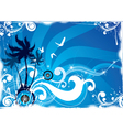 tropical island abstract vector image