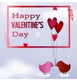 Valentine day postcard vector image vector image