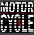 vintage motorcycle typography t-shirt graphic vector image vector image