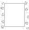 violet pansy flower outline banner card border vector image vector image