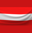waving national flag of austria vector image vector image