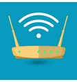 Wi fi wireless router web icon in flat style vector image vector image