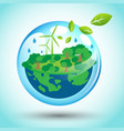 eco friendly world for earth day vector image