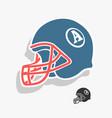 helmet american football vector image