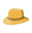 men straw hat straw sunhat isolated on white vector image
