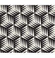 Seamless Black and White Triangle Cubic vector image