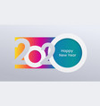 2020 holiday card calendar happy new year vector image vector image