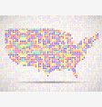 abstract map of usa colorful dots vector image