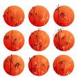 abstract round logos bamboo trees vector image
