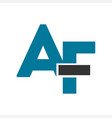 af initials letter company logo and icon