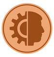 android robotics bronze coin vector image vector image