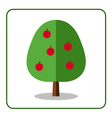 Apple tree icon vector image