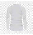 back white tshirt long sleeve mockup vector image vector image