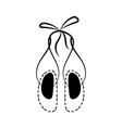 ballet shoes icon vector image vector image