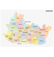 bandund administrative map indonesia vector image vector image