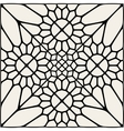 Black And White Mandala Lace Ornament vector image