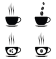 black coffee icons set vector image vector image
