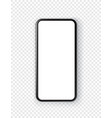 black smartphone with blank screen isolated vector image