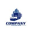 box truck logo vector image vector image