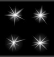 burst light bright on dark background vector image vector image