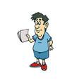 casual friday cartoon character vector image