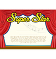 Certification template for super star vector image vector image