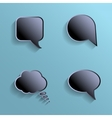 Chat bubbles - paper cut design Black color on vector image vector image