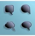 chat bubbles - paper cut design black color vector image