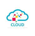 cloud service - logo template concept vector image vector image