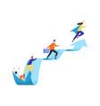 concept career ladder or leadership people vector image