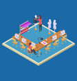 coworking space for designers isometric atelier vector image vector image