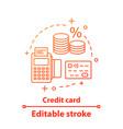 credit card concept icon vector image vector image