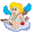 cupid on cloud vector image