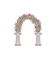 decorative flower arch vector image