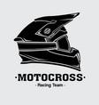 design logo helmets motocross vector image vector image